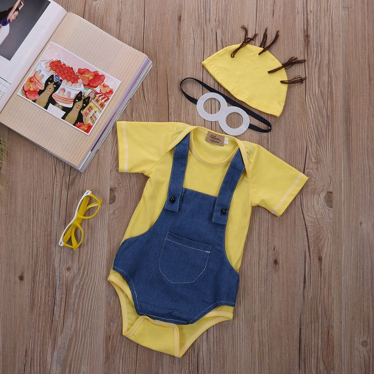 NEW Minions Baby Clothes Funny Minion Newborn Clothes Baby Girl clothes Baby boy #Unbranded #DressyEverydayHoliday