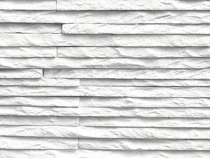 Rivestimento tridimensionale in pietra ricostruita per interni MONTE BIANCO Collezione LIVING by KERMA