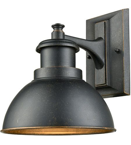 light visions farmhouse 1 light 10 inch bronze outdoor wall