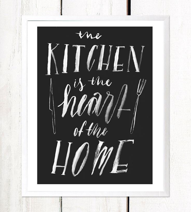 Heart of The Home Art Print by Serif & Script