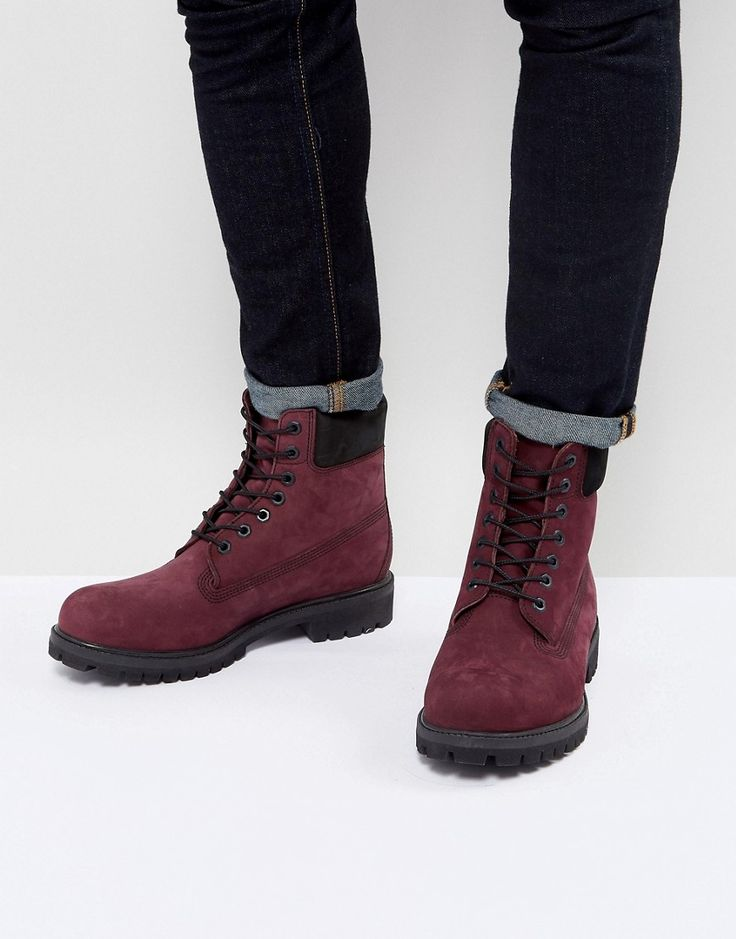 TIMBERLAND CLASSIC 6 INCH PREMUIM BOOTS IN RED - RED. #timberland #shoes #