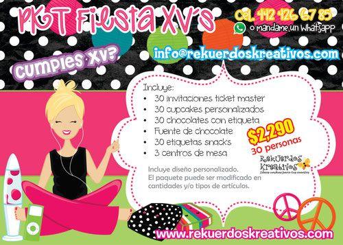 fiesta-quinceaños-quince-años-xv-cumpleaños-adolescente-invitaciones-ticket-master-cupcakes-kekitos-pastel-panquecitos-fuente-chocolate-centros-de-mesa-snacks-queretaro.jpg (500×357)