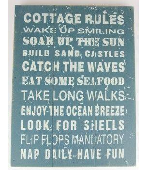 Obrazek drewniany niebieski z napisami, cytaty po angielsku na ścianę
