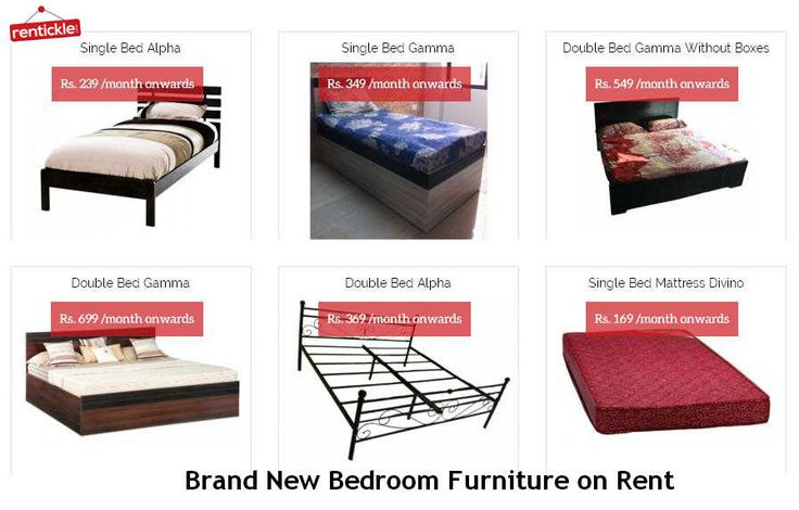 Residential Bedroom #Furniture for #Rent in Delhi, Gurgaon, Noida, Faridabad, India.