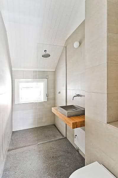 Concrete On The Bathroom Floor