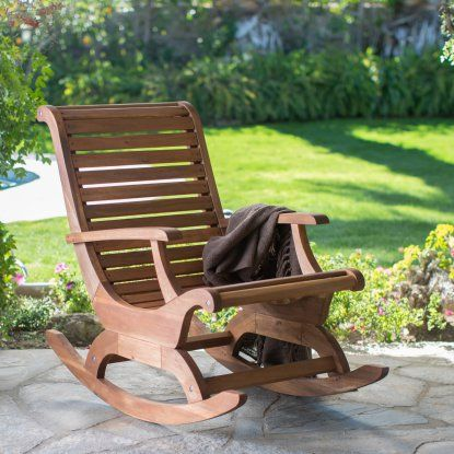 Belham Living Avondale Oversized Outdoor Rocking Chair - Natural - Outdoor Rocking Chairs at Hayneedle