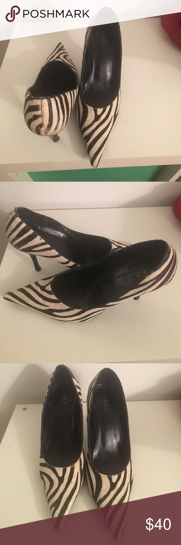 Zebra Shoes Zebra hide high heel shoes NYLA Shoes Heels