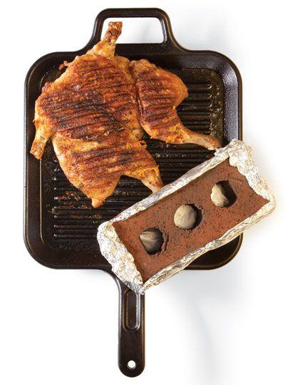 Cooking Under A Brick - Saveur.com #Saveur Yummy Grilled BBQ Chicken ...