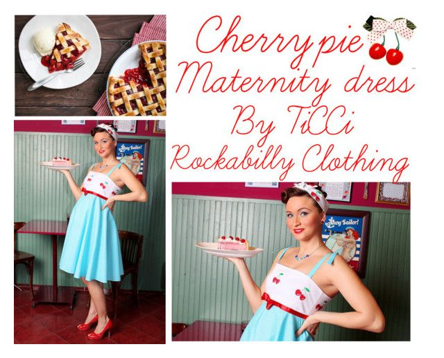 cherrypie maternity dres by ticci-1 on Polyvore