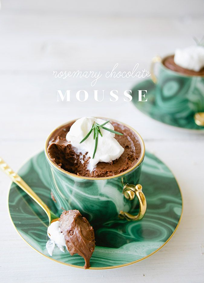 Get the recipe for this rosemary chocolate mousse via Claire Thomas
