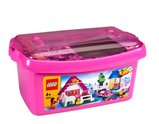 LEGO Pink Brick Box - 5560 5560 The perfect LEGO starter set for any girl! This colourful set is filled with a lot of great elements, such as a minifigure, a horse and plenty of elements for building. And clean-up is fun with the pi http://www.comparestoreprices.co.uk/childs-toys/lego-pink-brick-box--5560-5560.asp