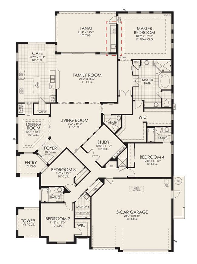 Kerrington Arezzo Floor Plan Viera Builders Floor Plans Viera Builders Arezzo