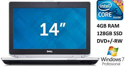 Dell Latitude E6430 14-inch Business Laptop PC, Intel Core i5 Processor, 4GB DDR3 RAM, 128GB SSD, DVD+/-RW, Webcam, Windows 7 Professional (Certified Refurbished)