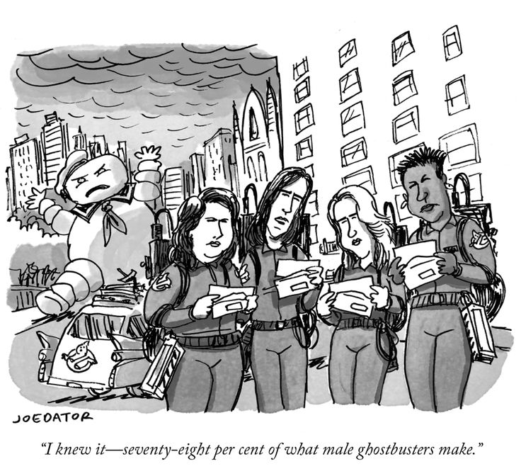 so there is an all female Ghostbusters movie coming out and people got jokes. Daily Cartoon: Wednesday, January 28th - The New Yorker