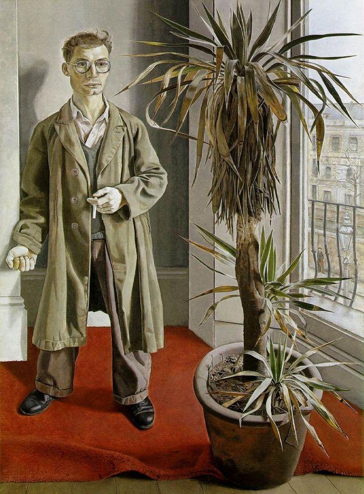 Lucian Michael Freud (1922 -2011) was een Britse schilder van Oostenrijkse afkomst. Freud gebruikte vooral tertiaire kleuren en aardkleuren. Zijn schildertechniek veranderde van heel gedetailleerd eind jaren veertig naar een veel grover verfgebruik aan het eind van de 20e eeuw. De uitdrukking van de personen in de schilderijen blijft echter gedurende zijn hele leven dezelfde afwezige sfeer weergeven.