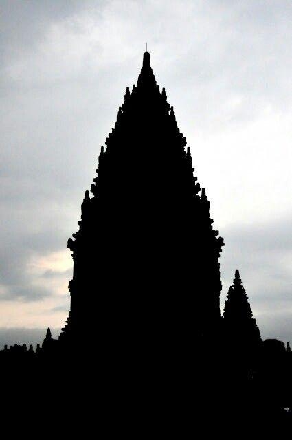 Siluet of Prambanan Temple, Jogjakarta, Indonesia. Photo by me