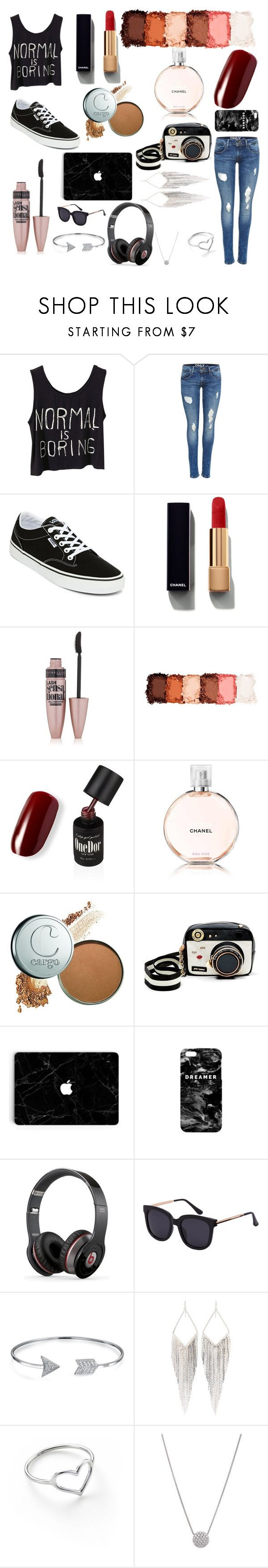 """Idk"" by savage-moves01 ❤ liked on Polyvore featuring Vans, Chanel, Maybelline, NYX, Betsey Johnson, Mr. Gugu & Miss Go, Beats by Dr. Dre, Bling Jewelry, Jules Smith and Jordan Askill"