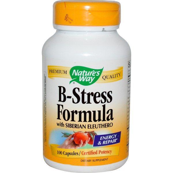 Nature's Way, B-Stress Formula with Siberian Eleuthero, 100 Capsules  #stress #formula #support #balance #management #iherb #thingstobuy #shopping #relief