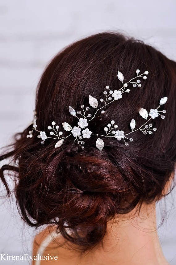 Wedding headpiece Bridal headband Wedding hair flower Bridal flower hairpiece Floral hair vine Wedding hair band Flower headband crystal Beaded tiara, hair vine, crowns, headbands, hair combs, and hair pins are handmade using high-quality Czech glass beads, crystal and ceramic