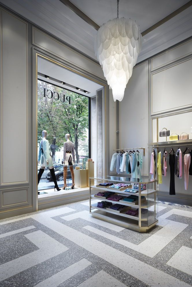 FLOOR PLAN: MAKING A STATEMENT FROM THE GROUND UP (outtake) - Emilio Pucci's Paris flagship on Avenue Montaigne designed by Joseph Dirand.