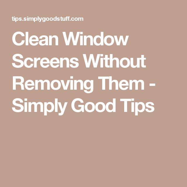 Clean Window Screens Without Removing Them - Simply Good Tips