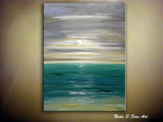 Large Ocean Painting Abstract Ocean Art Original Ocean Etsy Ocean Wall Art Ocean Painting Large Abstract Painting