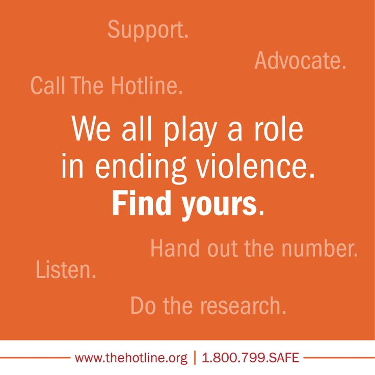 What's YOUR role in domestic violence awareness?