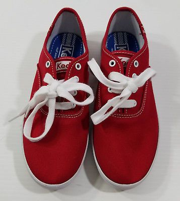 479ae8941814 Keds Shoes KY41605A Original Champion Red Lace-Up Canvas Upper Pebble Rubber  2
