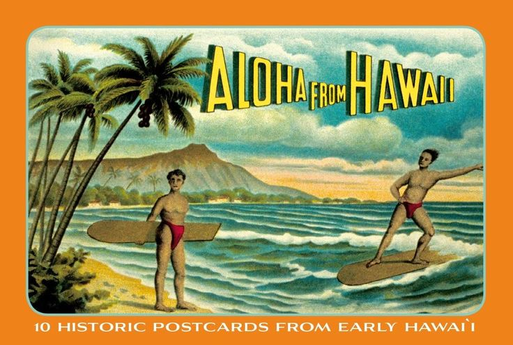 vintage postcard hawaii birthday - Google Search
