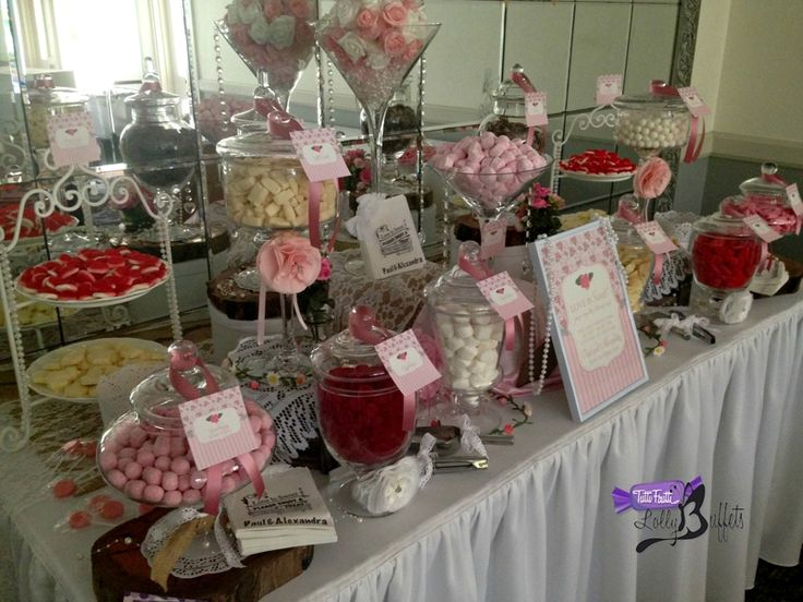 Pink Floral Candy Buffet