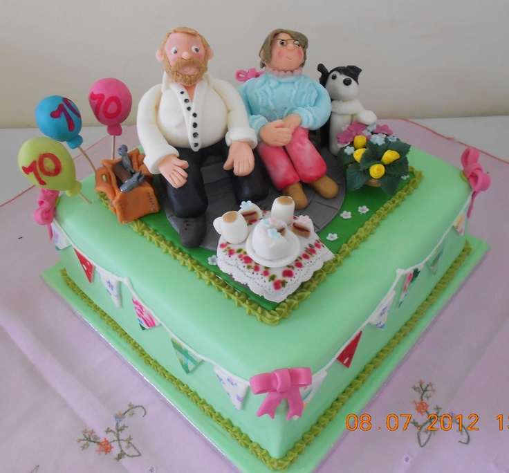 Best Moms Th Birthday Images On Pinterest Birthday Cakes - Birthday cakes 70th ladies