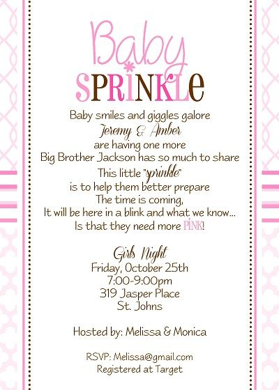 baby sprinkle shower invitation
