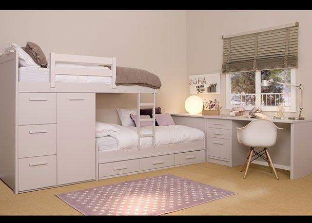 Mejores 168 im genes de dormitorios con zona de estudio en - Ver habitaciones infantiles ...
