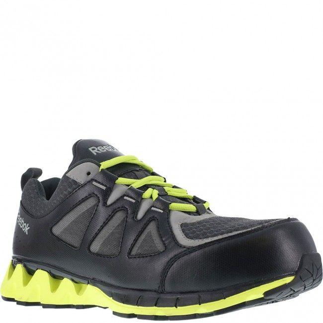 Reebok Work Men's ZigKick Work Composite Toe Sneaker, Size: 15 M, Black