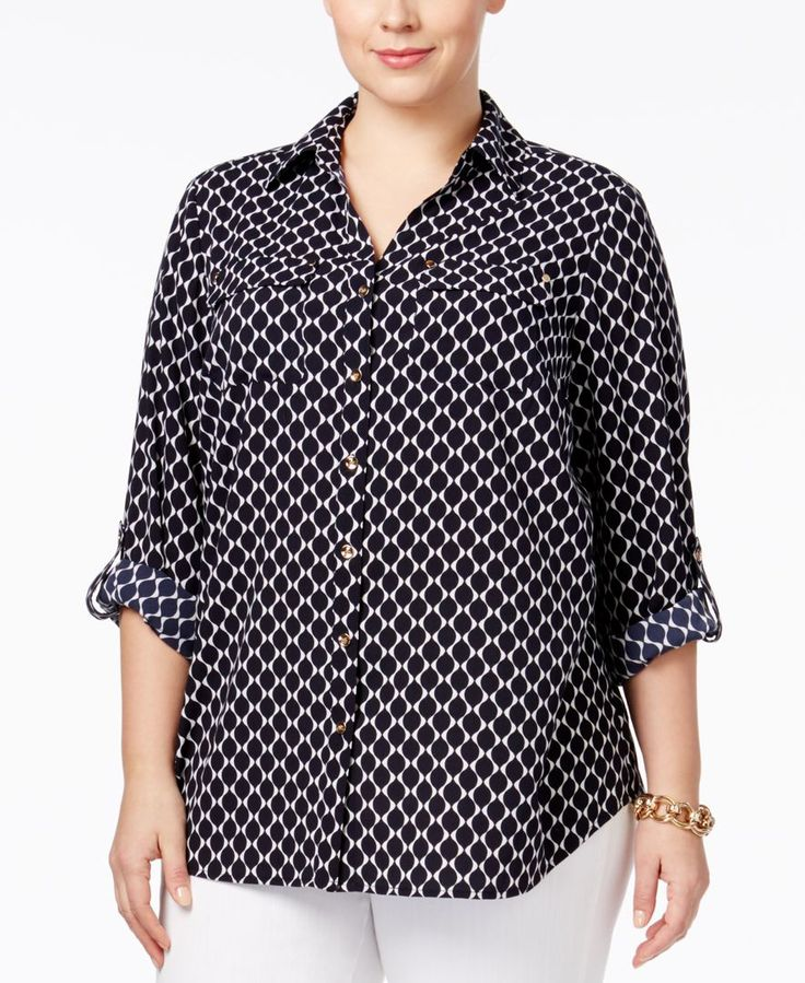 2dc5f85ab75 Charter Club Plus Size Printed Blouse