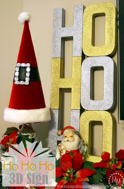 3D Ho Ho Ho Sign #SwellNoel