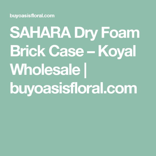 SAHARA Dry Foam Brick Case – Koyal Wholesale | buyoasisfloral.com