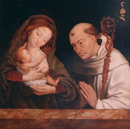 Vision of St Bernard.Bellegambe,Jean.1532.Université de Liège