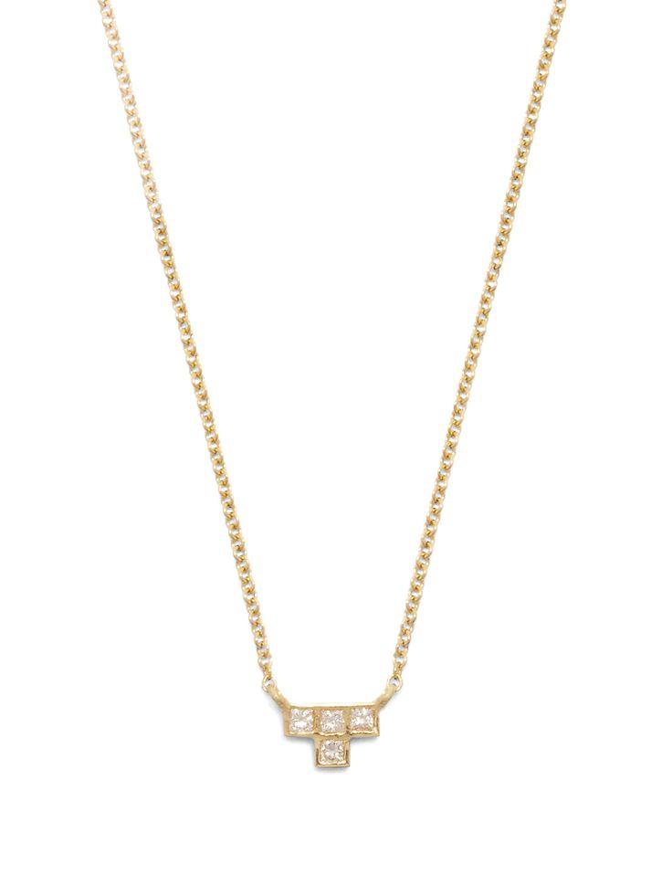 Diamond & yellow-gold necklace | Ileana Makri | MATCHESFASHION.COM US