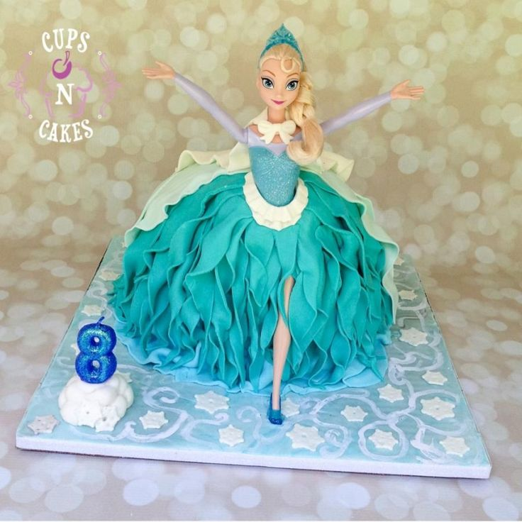 507 best doll cakes images on Pinterest Birthdays Frozen party