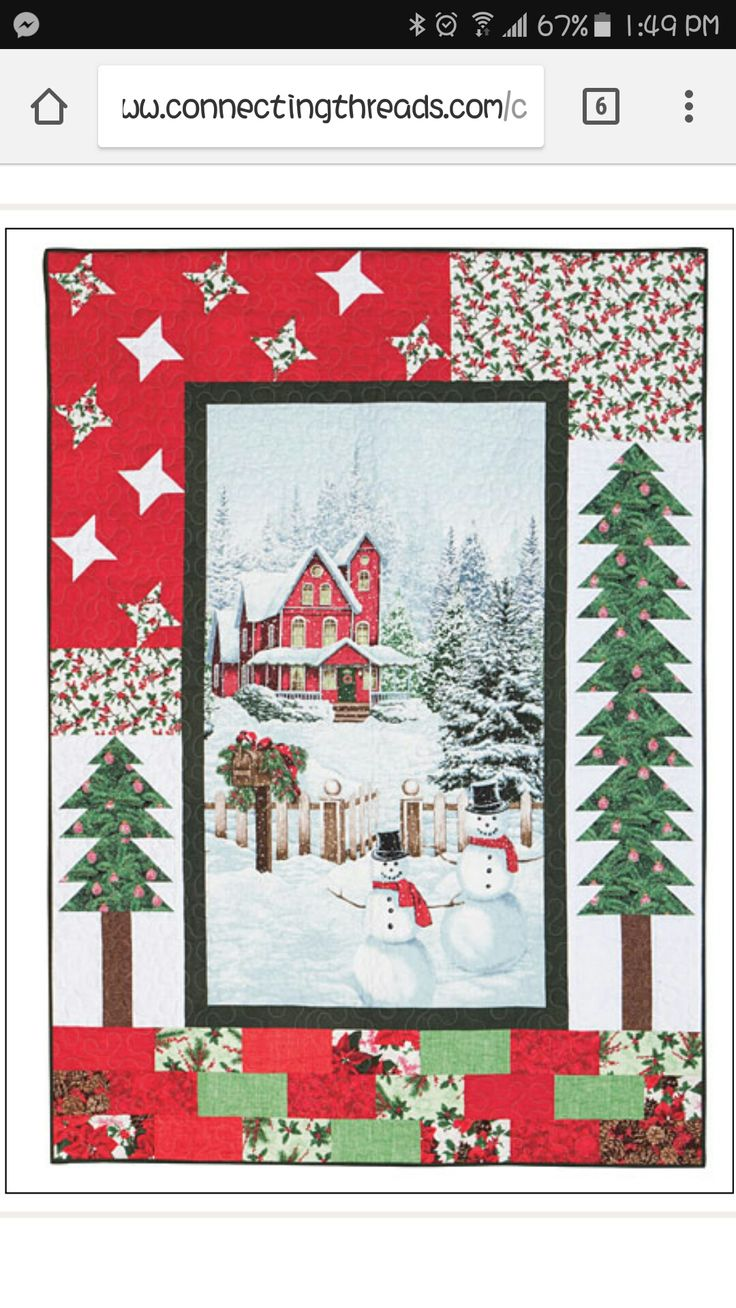 Christmas tree panel quilt | Christmas quilting projects ...