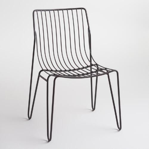 One of my favorite discoveries at WorldMarket.com: Black Metal Amara Hairpin Stacking Chairs Set of 2