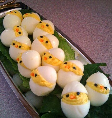 Hard boiled deviled easter eggs