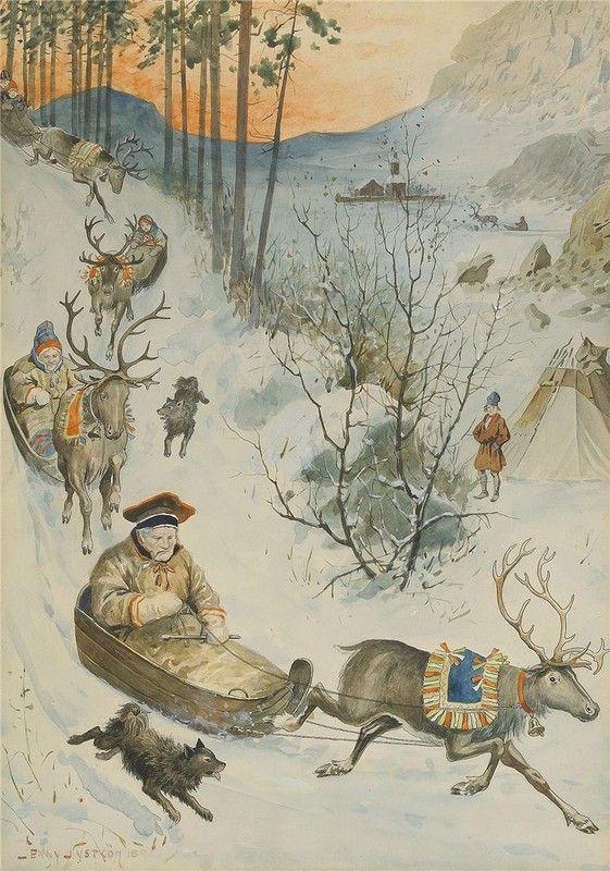 Jenny Nyström ~ Samer med sina renar i norra Sverige