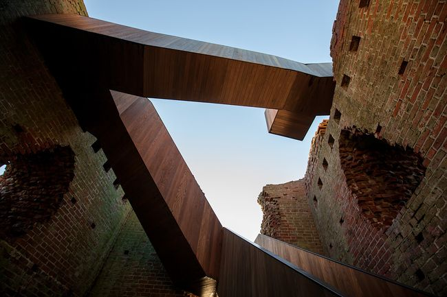 MAP Architects' slick staircase restores access to medieval Kalø Castle in Denmark | News | Archinect