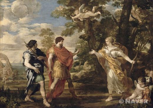 이 작품은 마치 전원시를 눈앞에 보는 듯, 아름다운 풍경 속에 신화의 내용을 표현하고 있다. 이 주제는 로마의 시인 베르길리우스(Vergilius)의 '아에네아스(Aineis)'로부터 따온 것이다. 이 대서사시는 로마의 신화와 관련되어 있는데, 호메로스(Hómēros)의 일리아드(Iliade)와 오디세이(Odyssée)에서 영감을 받아 지어졌다.