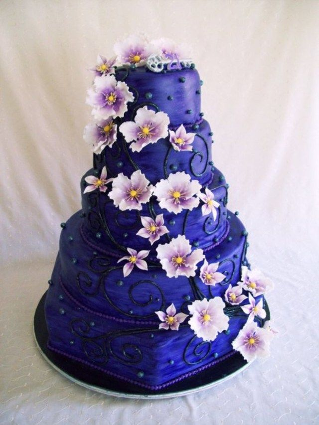 27 Great Picture Of Big Birthday Cakes Purple Cake Cakecentral