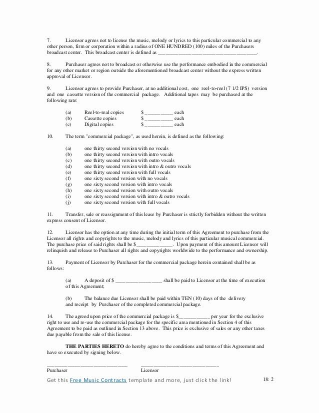 Music Performance Contract Template New Mercial Music Contract Contract Template Music Performance Rehearsal Dinner Invitations Wording