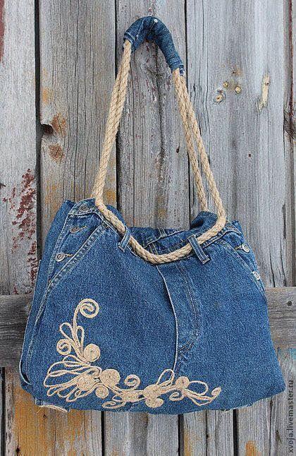 Image result for cartera de jean y crochet