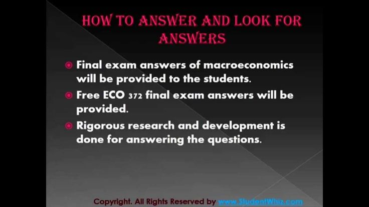 We can help students achieve their goals.We provide study materials for ECO 372 Final Exam Questions which are the most queried subjects by the students. A helping hand and a true friend in need.  http://www.StudentWhiz.com/ will provide you every possible solution that can help your studies in a better way.